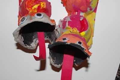 Egg Carton Chinese Dragons