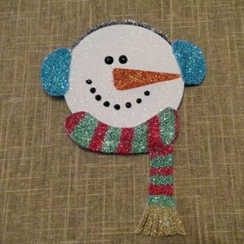 Recycled CD/DVD Glitter Snowman