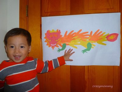 Handprint Chinese Dragon