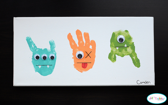Handprint Monsters Fun Family Crafts