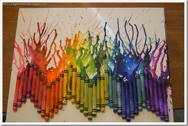 good art and craft ideas melted crayon family crafts 6641