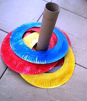 Paper Ring Toss Game