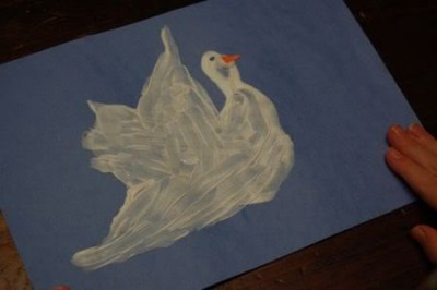 Hand Print Peace Doves