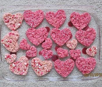 Pink Heart Krispie Treats