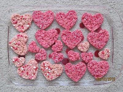 Pink Heart Krispie Treats Rice ...
