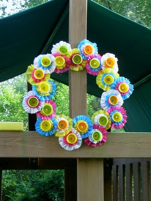 Play Doh Container Wreath