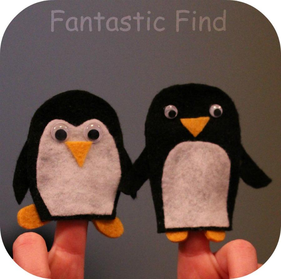 Penguin Finger Puppets
