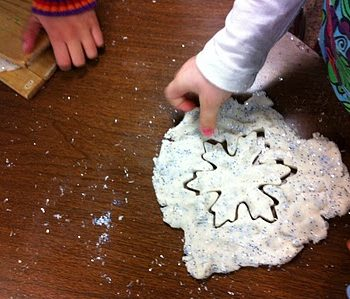 Sparkling Snow Play Dough