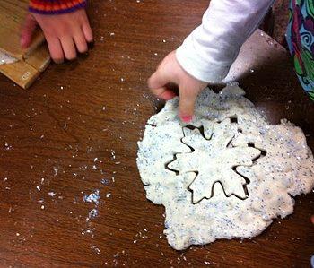 Sparkling Snow Play Dough