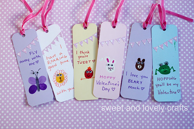 Thumbprint Valentine's Day Book Marks