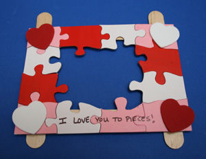 i love you to pieces craft s day puzzle picture frame family crafts 7793