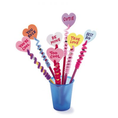 Valentine Pencil Toppers | Fun Family Crafts