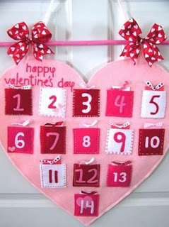 Valentine's Day Countdown Wall Hanging