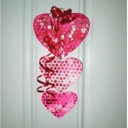 Bubble Wrap Valentine Mobile