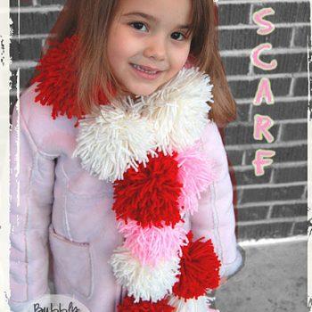 Valentine Pom Pom Scarf