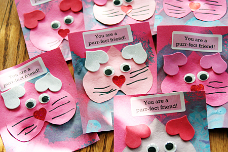 Purrfect Kitty Valentine – Valentine Cards Ideas for Preschoolers