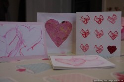 Cork Stamped Valentines Cards