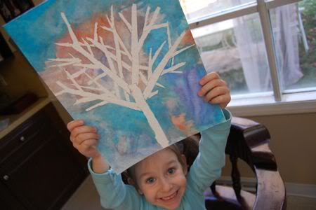 Winter Tree Silhouette Fun Family Crafts