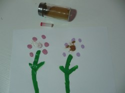 Five Senses Activity: Scented Finger Print Flowers