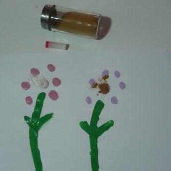 Five Senses Activity: Scented Finger Print Flowers