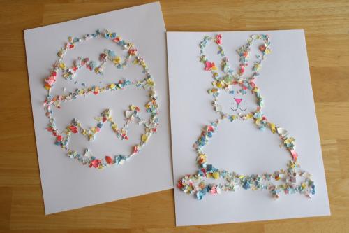 Eggshell Easter Collage