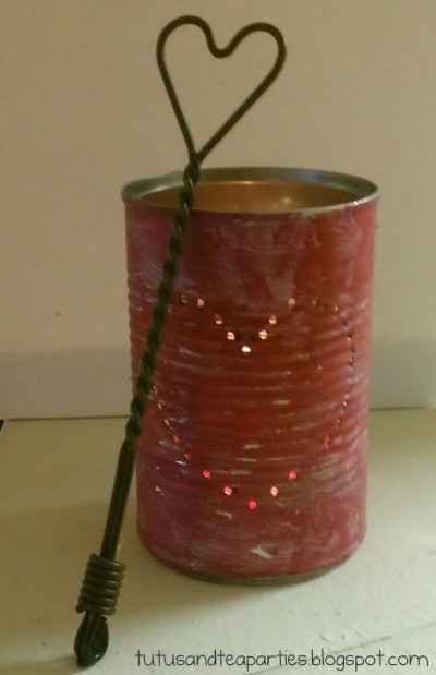 Valentine Tin Can Luminary