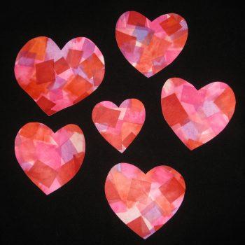Tissue Paper Hearts