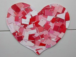 Paint Chip Hearts