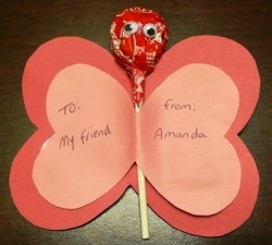 Lollipop Valentine Butterfly