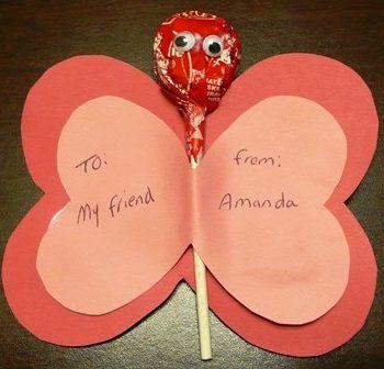 Lollipop Valentine Butterfly