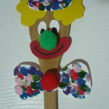 Wooden Spoon Clown