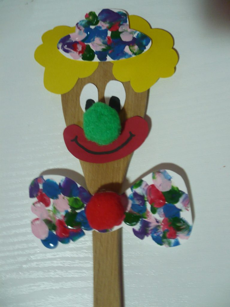 Wooden Spoon Clown