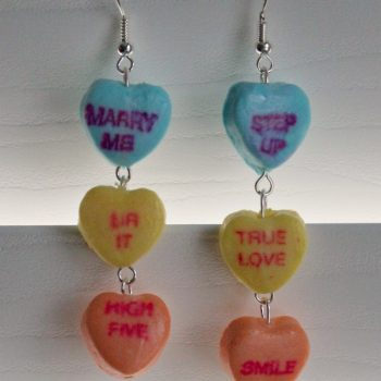 Sweetheart Candy Dangly Earrings
