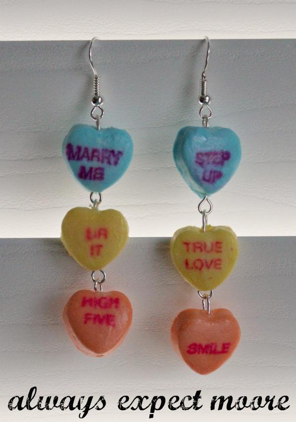 Sweetheart Candy Dangly Earrings