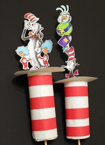 "Cardboard Tube ""Cat in the Hat"" Hats"