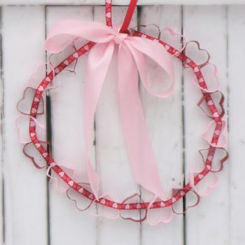 Cardboard Tube Heart Wreath