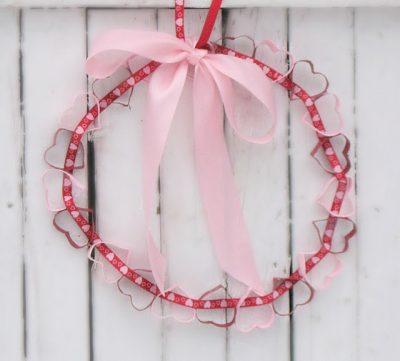 Cardboard Tube Heart Wreath