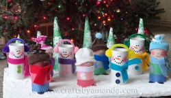 Cardboard Tube Children & Snowmen
