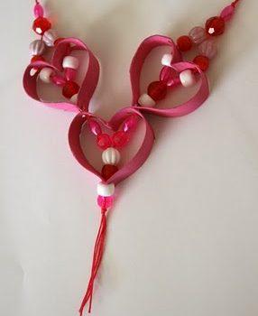 Cardboard Tube Valentine Necklace