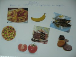 "Five Senses Activity: A Collage of ""Tastes"" When teaching ""taste"", one of the 5 senses, hand your child a stack of magazines and have them cut out pictures of food that pertain to sweet, salty, bitter...etc. Create a collage with the labels and pictures."