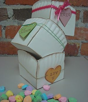 Conversation Heart Paper Plate Baskets