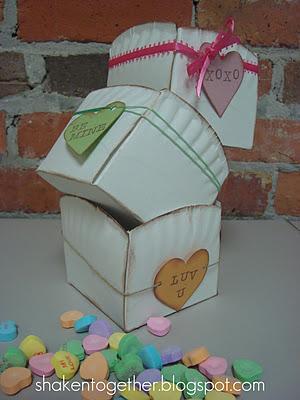 Conversation Heart Paper Plate Baskets