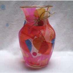 Decoupage Valentine Vase