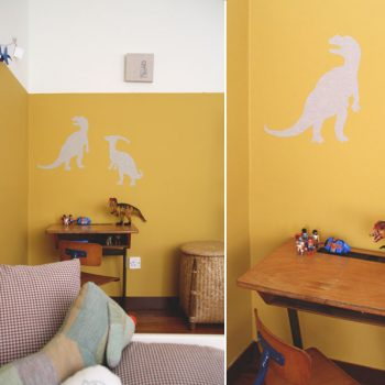 Fabric Dinosaur Wall Stickers