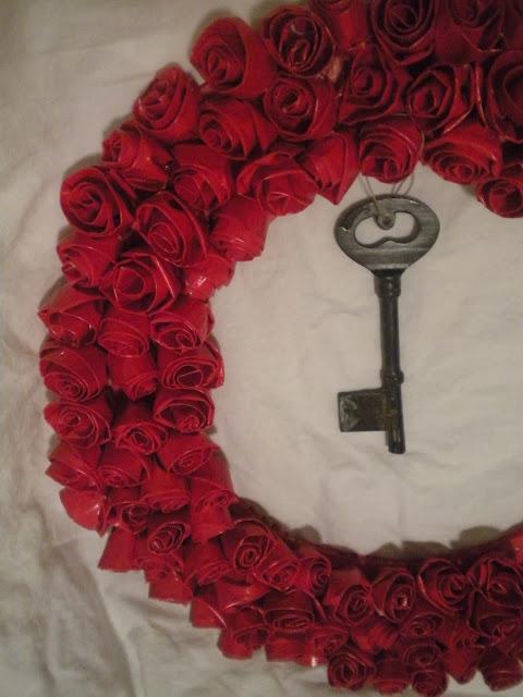 Duct Tape Rosette Wreath