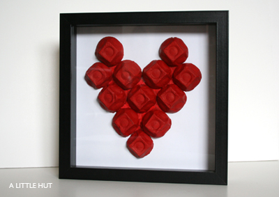 Egg-cellent Heart Art