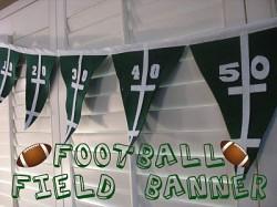 Football Field Banner