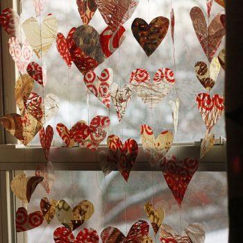 Grocery Bag Valentine Garland
