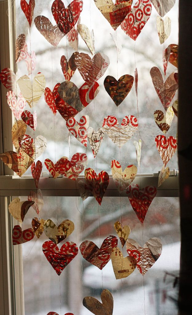 Grocery Bag Valentine Garland
