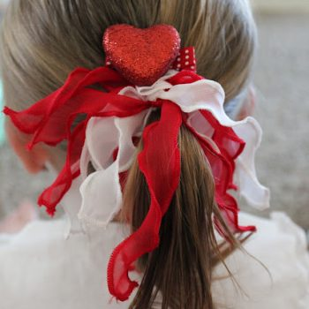 Valentine Heart Hair Clips